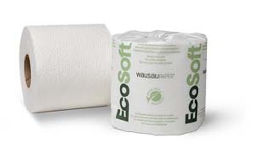 BATH TISSUE ECOSOFT  1000-1 PLY 96 ROLLS PER CASE