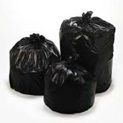 BAG TRASH LINER 55 GALLON 38-58-1.5 BLACK X (100)