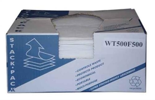 "PRO KNIT WHITE 10"" x 13""  WIPES STACK BOX"