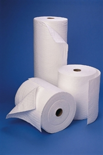 """Sorb-Tex oil only perforated rolls 15"""" x 150' perforated every 18"""" Double weight."""