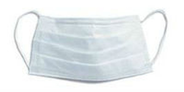 BLUE PLEATED 3 PLY EARLOOP  FACE MASK   50 per box
