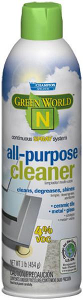 ALL PURPOSE CLEANER GREEN WORLD 'N' 4% VOCs 12 CS 1#