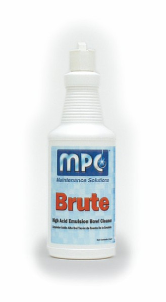 BOWL CLEANER BRUTE 24% ACID QUART HIGH ACID EMULSION 12/QTS PER CASE
