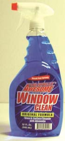 GLASS CLEANER AWESOME W/AMMONIA 32OZ(12)