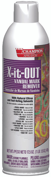 GRAFFITI CLEANER VANDAL X-IT-OUT  FAST ACTING REMOVING SOLVENTS 20 oz./12 PER CASE