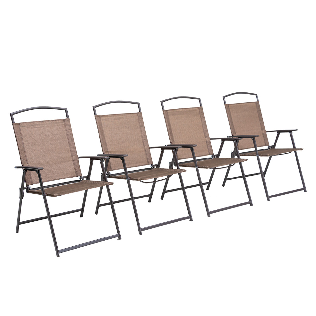 Details about  /2 PCS Patio Chairs Outdoor Dining Chair with Armrest