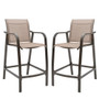 Crestlive Products 2-Piece Counter Height Bar Stools All Weather Patio Furniture