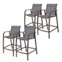 Crestlive Products 4-Piece Counter Height Bar Stools All Weather Patio Furniture