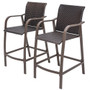 Crestlive Products 2-Piece Counter Wicker Height Bar Stools All Weather Patio Furniture