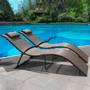 Sturdy Durable Material This lounge chair is constructed of steel frames in brown coating, chairs provides sturdy support with max weight capacity of 270 lbs. Intimate end caps on the bottom prevent your floor from scratches.