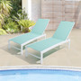 Crestlive Products 2-Piece Outdoor Adjustable Chaise Lounge Chair