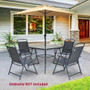 Crestlive Products 5-Piece Outdoor Patio Dining Set with 4 Folding Chairs and 1 Table
