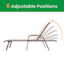 Crestlive Products 2PCS Outdoor Adjustable Chaise Lounge Chair in Beige