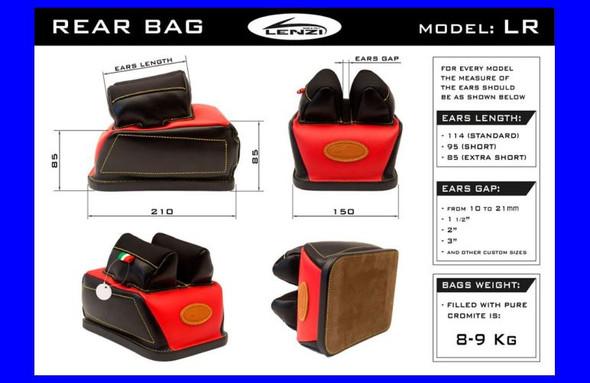 Lenzi Long Range Rear Bag (16mm Spacing Nylon Ears)