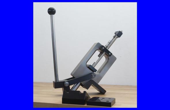 Lenzi Bullet Making Swaging Press Dual Thread w/30 Degree Mounting Plate