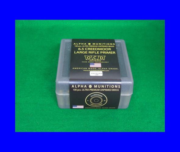Alpha 6.5 Creedmoor Large Primer Pocket (100ct)