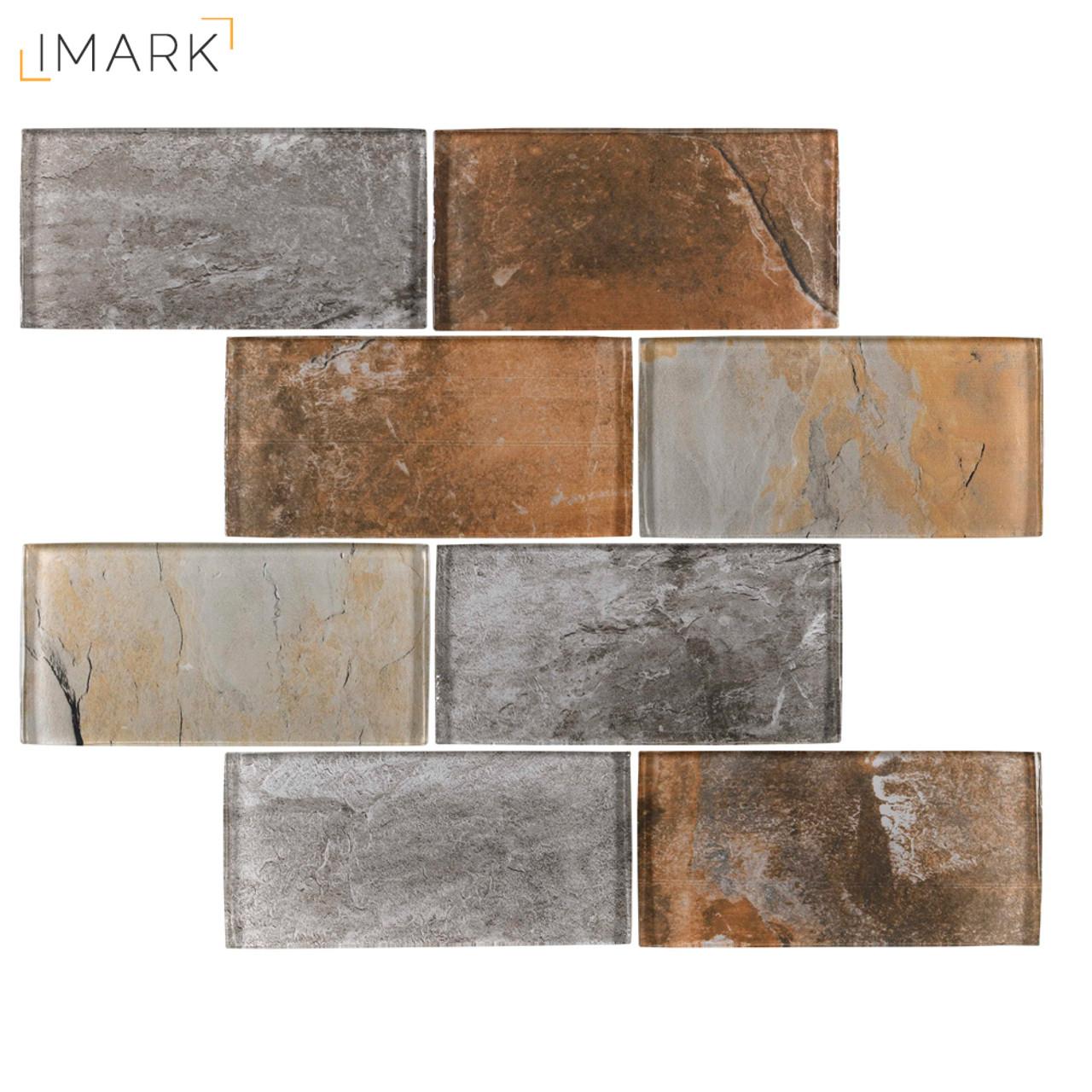 High Quality Wall Tile Kitchen Backsplash Subway Bronze