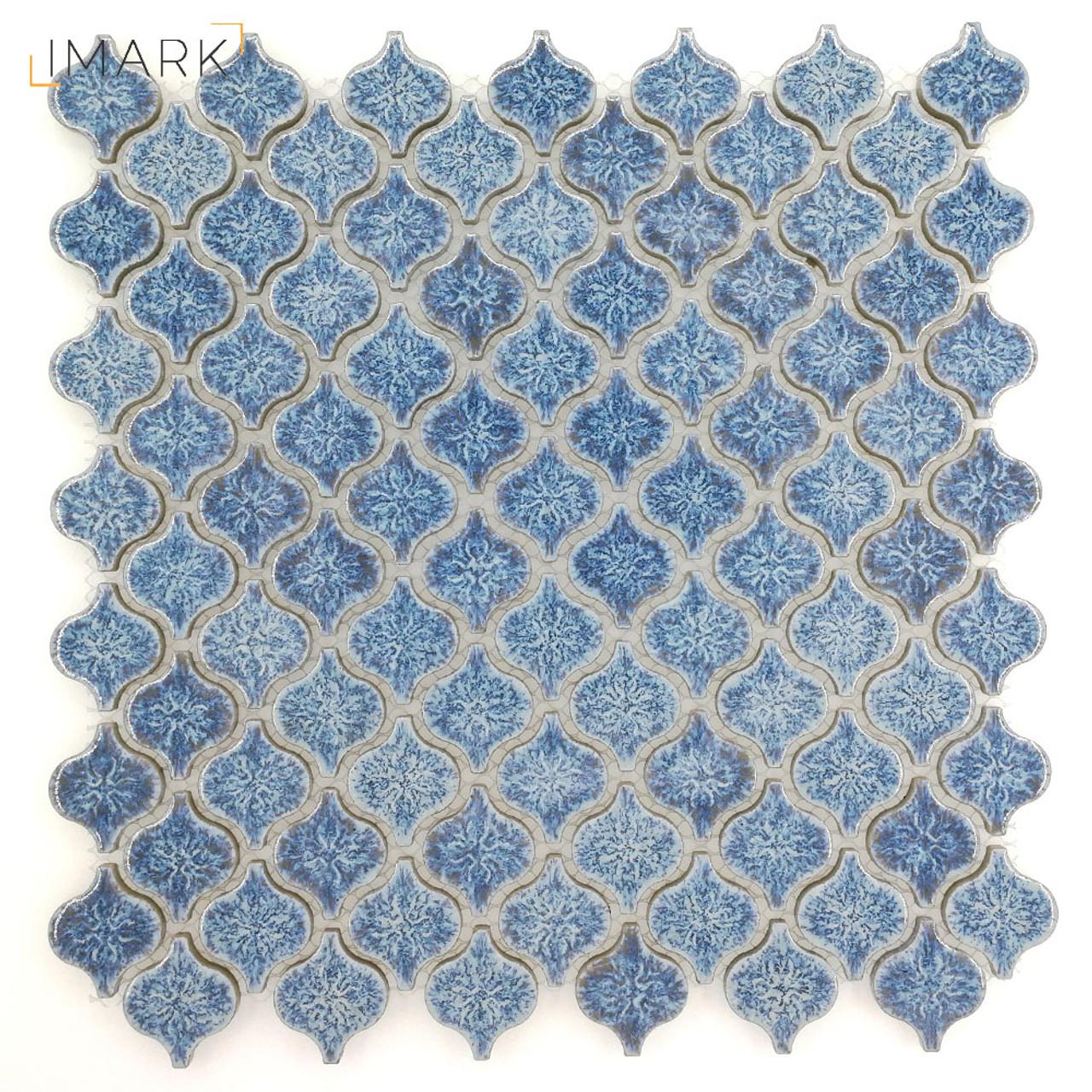 Lantern Mini Cobalt Blue Ceramic Mosaic Tile For