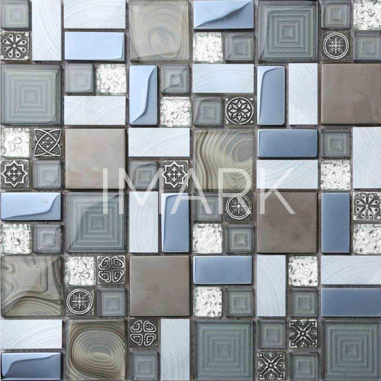 Electroplating Glass Wall Mosaic Tiles Kitchen Backsplash