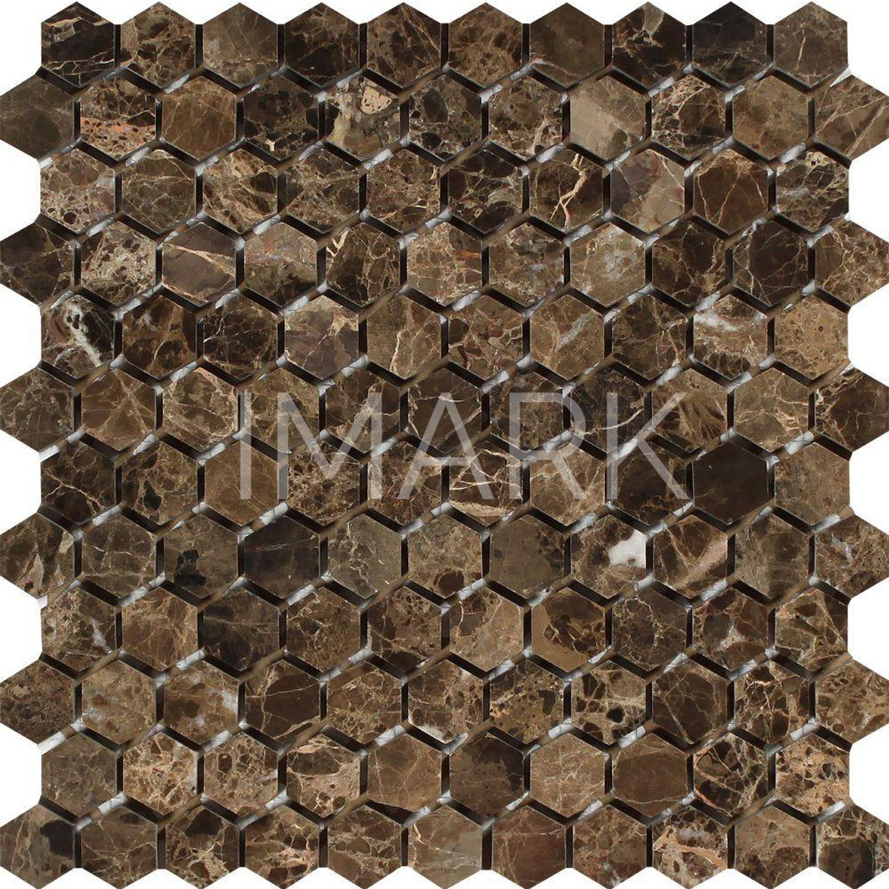 - China Emperador Dark Natural Marble Mosaic Backsplash Tile Factory