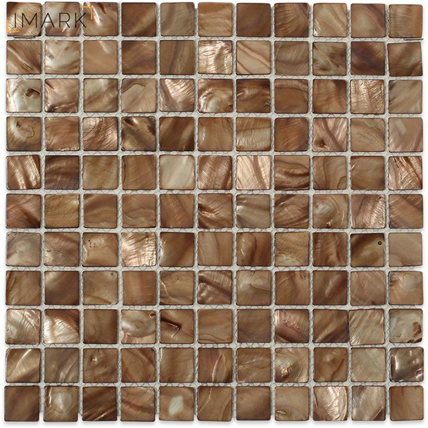 Mother of Pearl Topaz 12 in. x 12 in. x 2 mm Glass Mosaic Tile