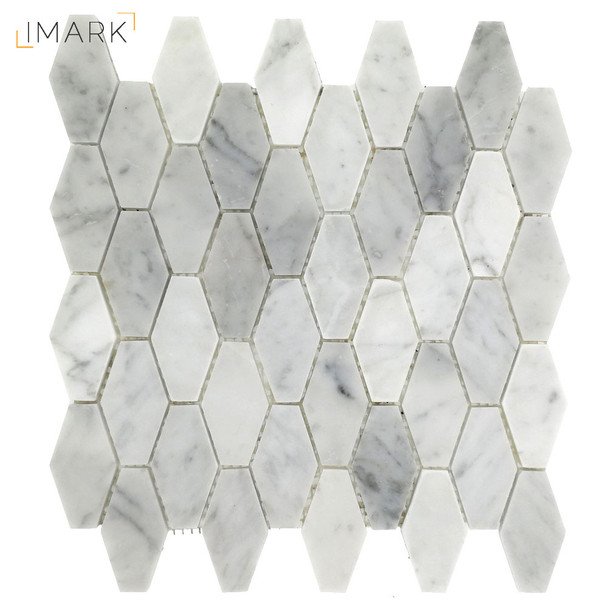 Carrara White Marble Polished Or Hexagonal Stone Mosaic Tile (STM-HX001)