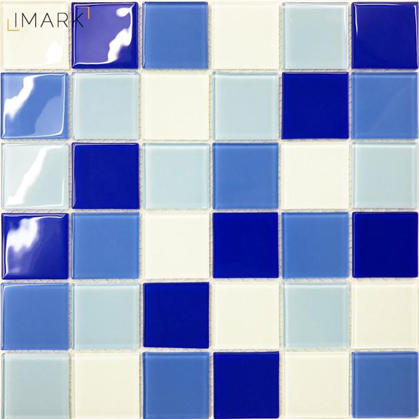 Cheap Blue & White Swimming Pool Mosaic Tile Supplier