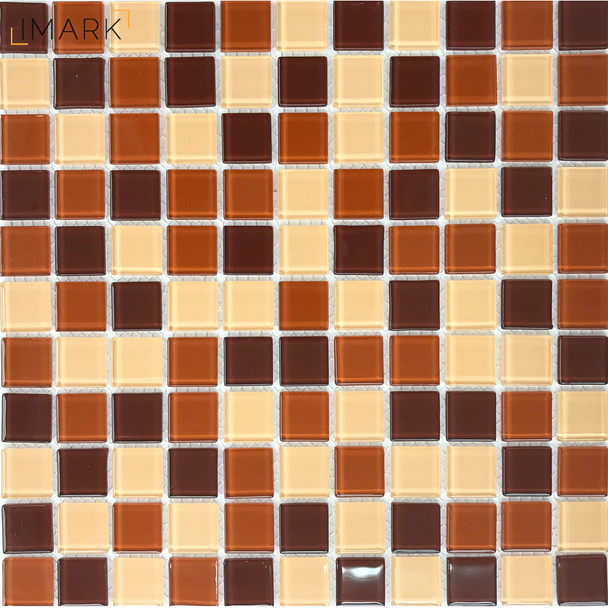 Coffee Brown Glass Mosaic and Listelles for Backsplashes and Feature Walls