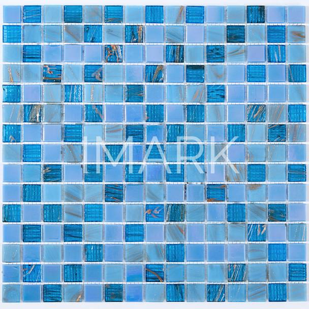 Cobalt Blue Copper Blue Glass Mosaic Tile, bellini imports