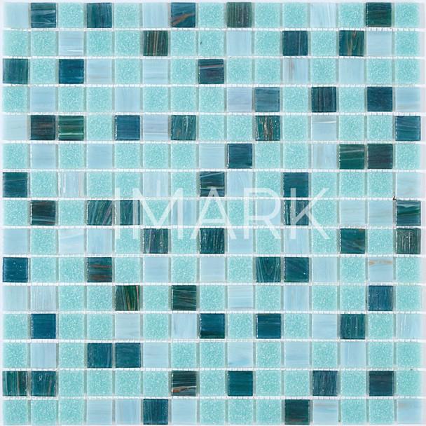 2018 hot selling blue mix green swimming pool mosaics tile