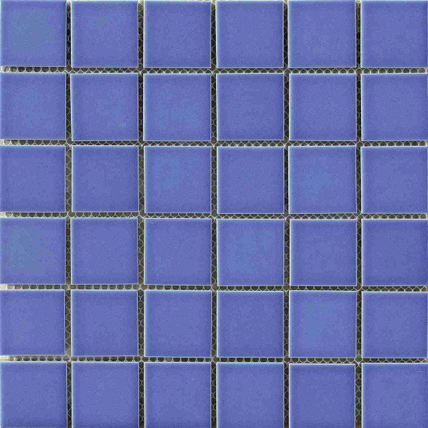 cobalt blue ceramic mosaic tile for swimming pool flooring (PMC4804)