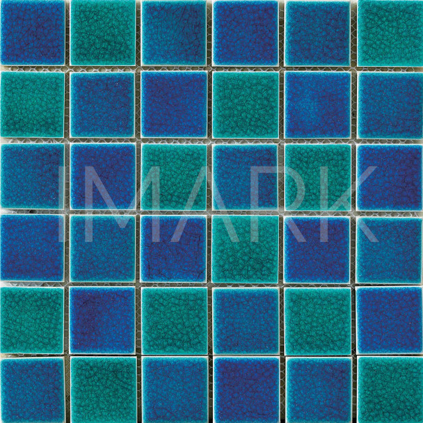 China Mosaic Factory Turquoise Green Ceramic Swimming Pool Tile