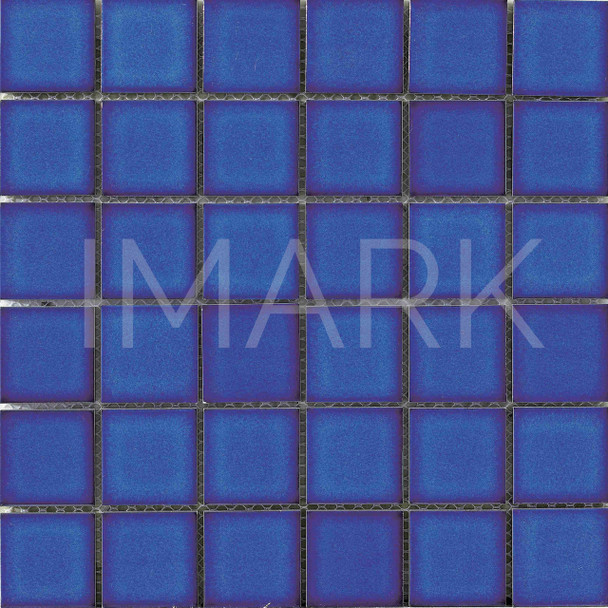 Classic Blue Wave Glazed Ceramic Swimming Pool Mosaic And Tile
