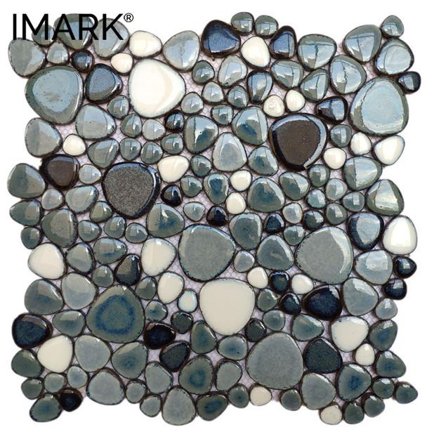 Cobblestone Ceramic Mosaic For Kitchen & Bathroom Wall Tiles