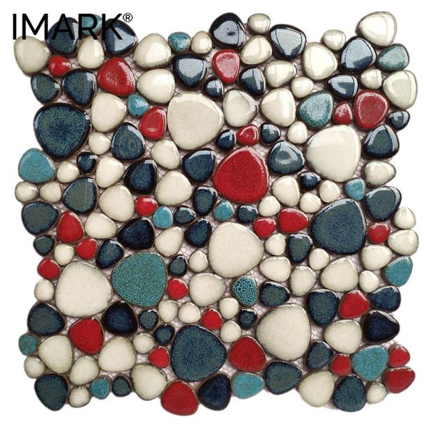 Custom Pebble Ceramic Mosaic For Exterior Swimming Pool Fountain