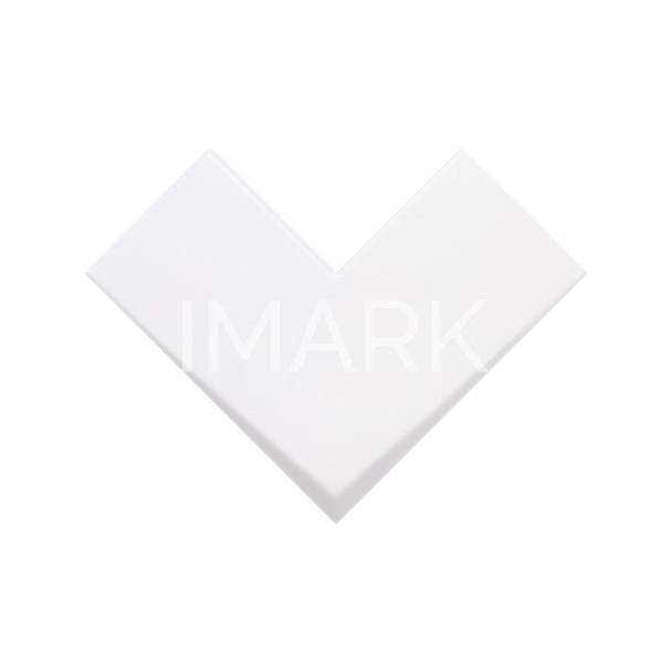 "8"" x 8"" L-Shaped White Matte Interior Design Porcelain Wall Tile"