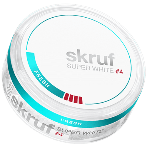 Skruf Super White Slim Nicotine Pouches - Fresh