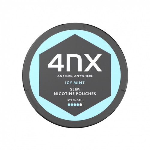 4NX Slim Nicotine Pouches Strong - Icy Mint