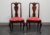 HICKORY CHAIR Queen Anne Style Dining Side Chairs - Pair 3