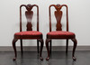 HICKORY CHAIR Queen Anne Style Dining Side Chairs - Pair 1