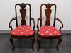 HICKORY CHAIR Queen Anne Style Dining Arm Chairs - Pair 2