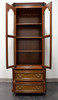 Mahogany with Burl Walnut Inlay Chippendale Curio Cabinet