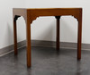Vintage Transitional Yew Wood Accent / Side Table