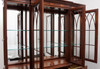 ETHAN ALLEN 18th Century Chippendale Inlaid Mahogany Breakfront China Cabinet