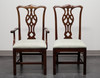 SOLD - KNOB CREEK Solid Mahogany Chippendale Straight Leg Dining Chairs - Set of 6