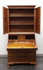 SOLD - CRAFTIQUE Solid Mahogany Chippendale Secretary with Blind Bookcase