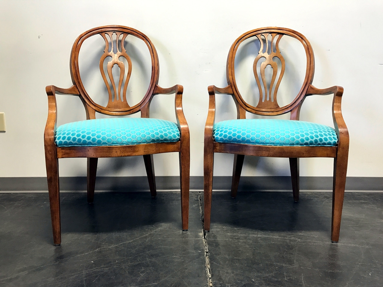 Accent Chairs Sold In Pairs.Sold Out Henredon Natchez Collection Mahogany Dining Accent Chairs Pair 2