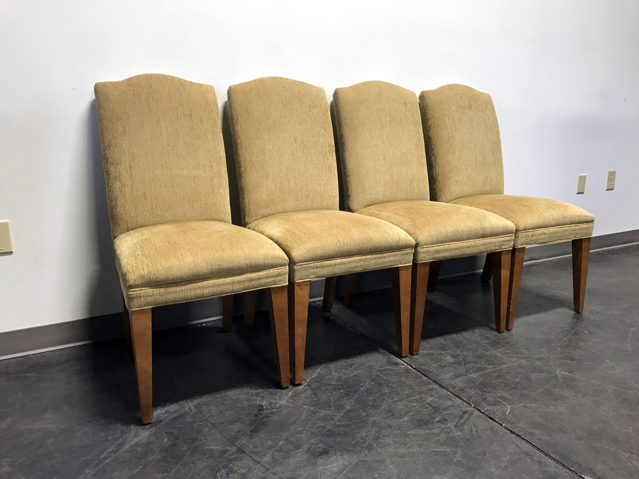 SOLD OUT MITCHELL GOLD for RESTORATION HARDWARE Upholstered Dining Chairs Set of 4