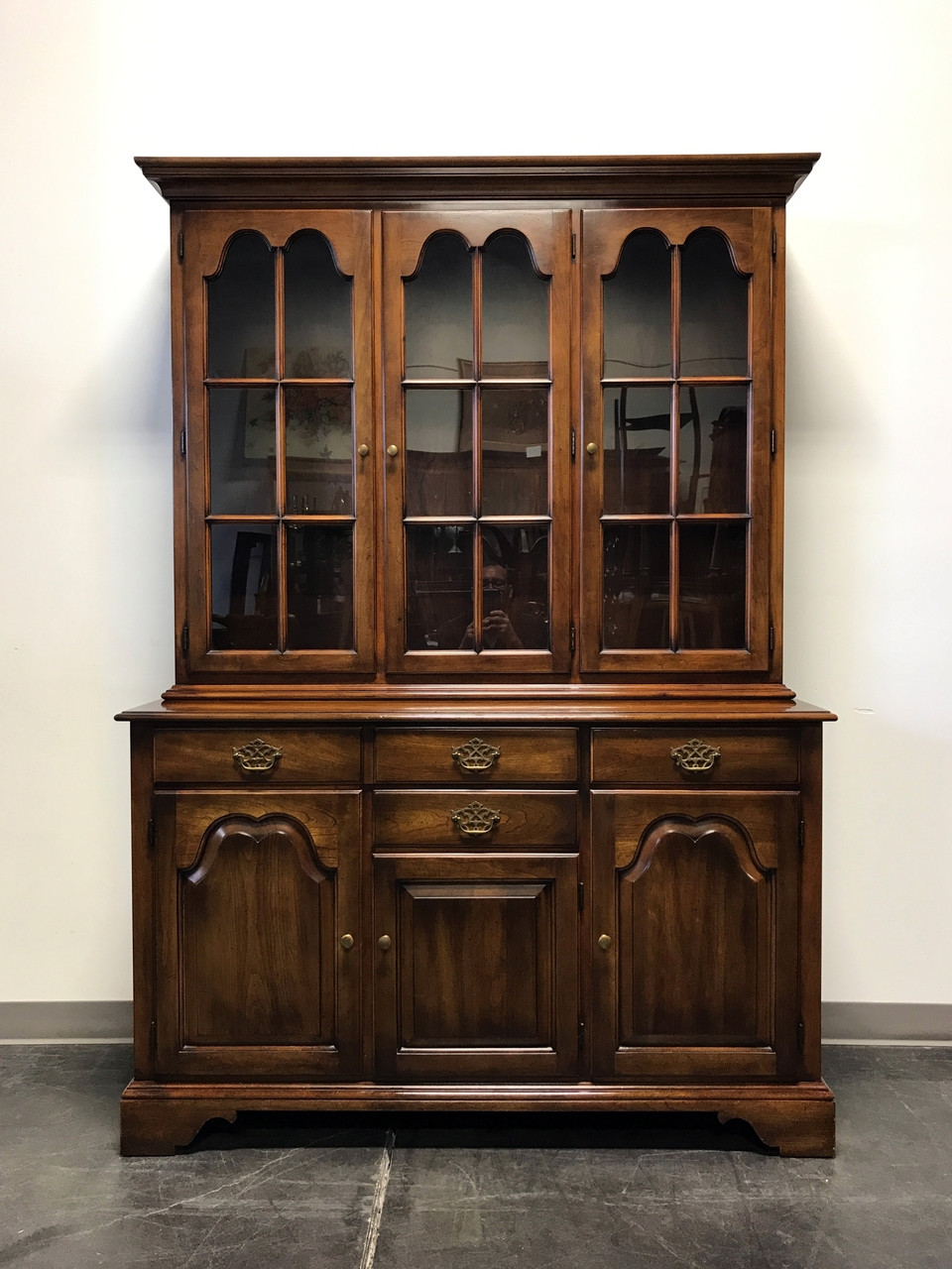 Sold Out Statton Oxford Antique Cherry China Cabinet Hutch