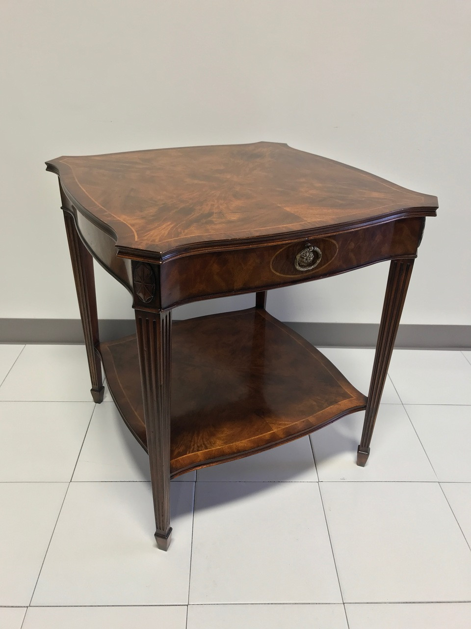 Sold Out Maitland Smith For Colony Furniture Aged Mahogany Inlaid Regency End Accent Table 1